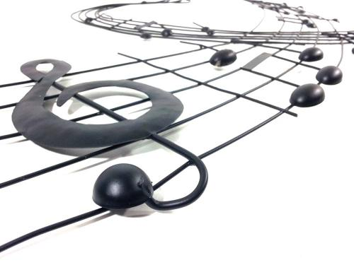 Metal Wall Art Heart Music Note Scroll