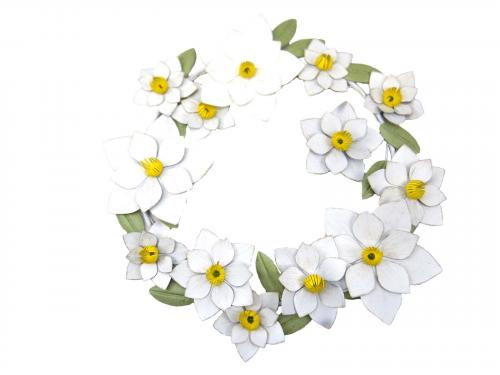 Metal Wall Art - Large Daisy Flower Ring