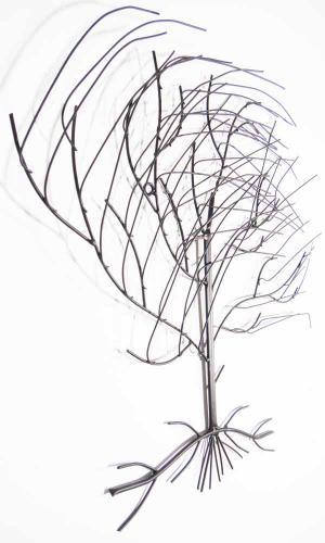 Metal Wall Art   Large Windy Oak Tree