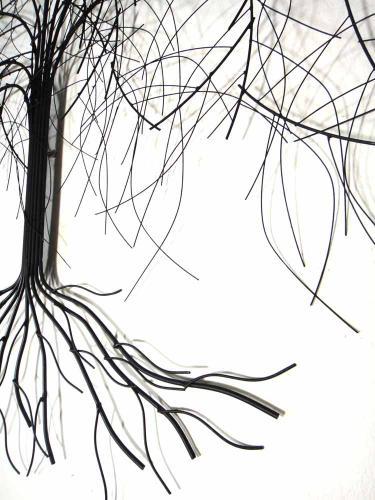 Superb Metal Wall Art   Large Oak Tree