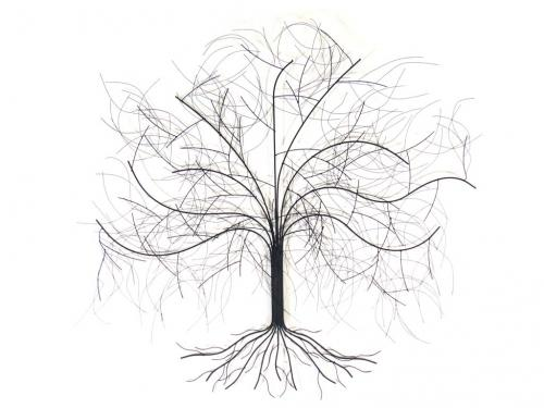 Metal Wall Art - Large Oak Tree