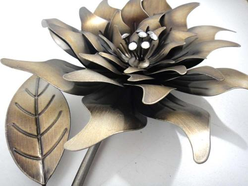 Flower Metal Wall Art wall art - right bronze flower