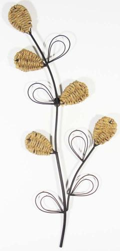 Metal Wall Art - Rope Leaf Stem