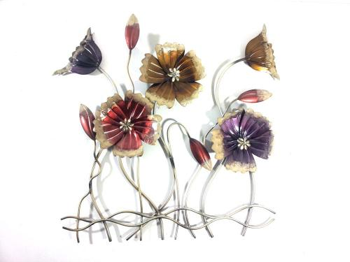 Metal Wall Art - Rustic Flower Scene