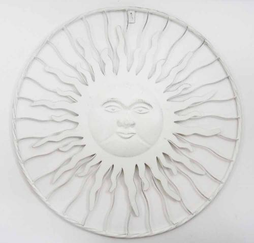 Metal Wall Art - Shabby Chic Sun Burst Face