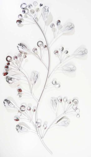 Metal Wall Art - Shimmering Jewel Tree Stem