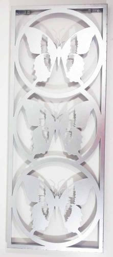Metal Wall Art - Silver Trio Of Butterflies