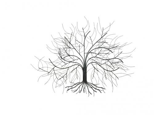 Metal Wall Art - Small Oak Tree