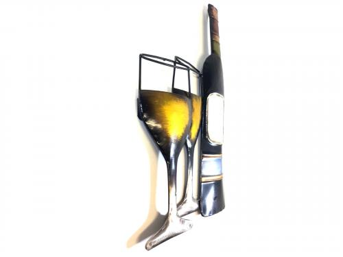Metal Wall Art - White Wine Scene