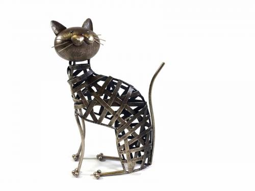 Metal Weave Cat Ornament