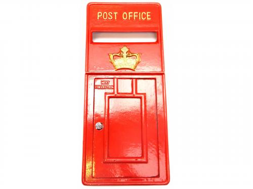 Replica Royal Mail Crown Post Box Or Letter Box Front Fascia - Red