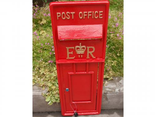 Replica Royal Mail ER Post Box Or Letter Box Front Fascia - Red