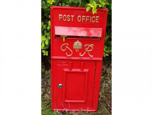 Replica Royal Mail GR Post Box Or Letter Box Front Fascia - Red
