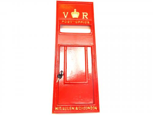 Replica Victorian Royal Mail VR Post Box Or Letter Box Front Fascia - Red