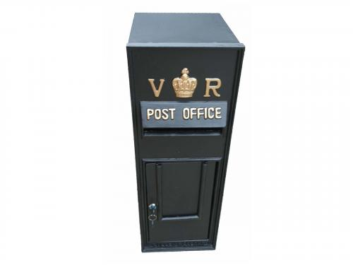 Replica Victorian Wall Mounted Royal Mail VR Post Box Or Letter Box - Black