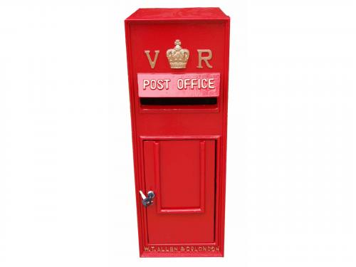 Replica Victorian Wall Mounted Royal Mail VR Post Box Or Letter Box - Red