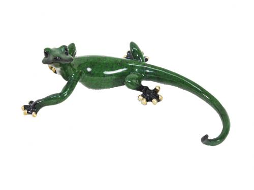 Resin Wall Art - Green Curled Gecko