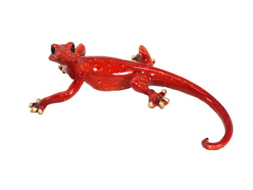 Resin Wall Art - Red Curled Gecko