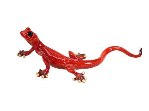 Resin Wall Art - Red Gecko