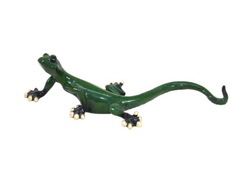 Resin Wall Art - Small Green Gecko