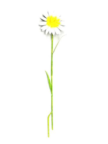 Small Metal Garden Flower Stake - Daisy Design