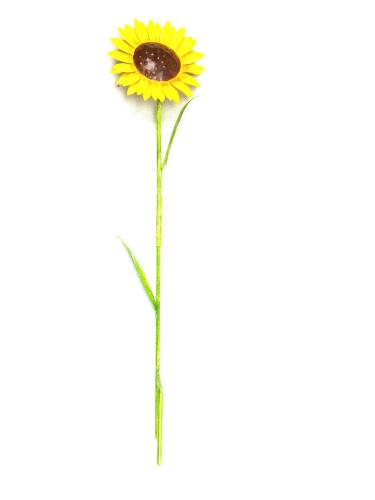 Small Metal Garden Flower Stake - Sunflower Design