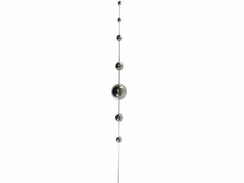 Stainless Steel 7 Ball Large Gazing Ball Garden Stake