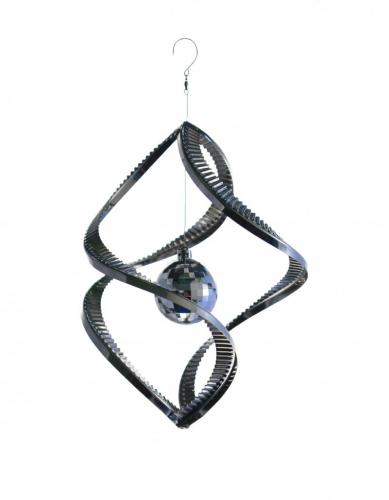 Stainless Steel Disco Ball Wind Spinner - 28cm Tall