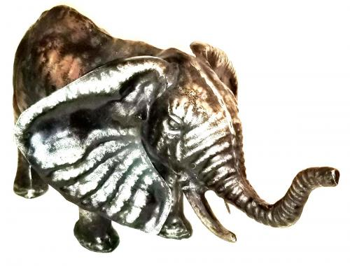 Stainless Steel Sculpture - Elephant