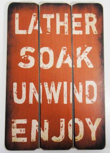 Wooden Wall Art - Soak Sign Red