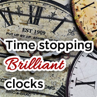Our decorative clock range brings time to life