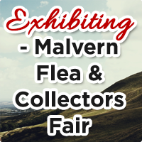 We're at the Malvern Flea and Collectors Fair this Easter Monday 21st April...
