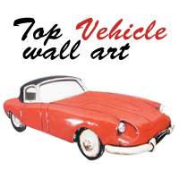 Turn your Vehicle Metal Wall Art into Top Gear