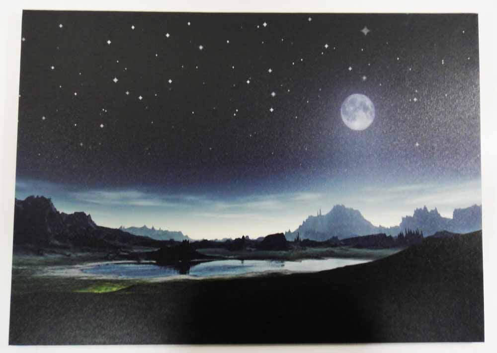 Canvas LED Wall Art - Twilight Mountains
