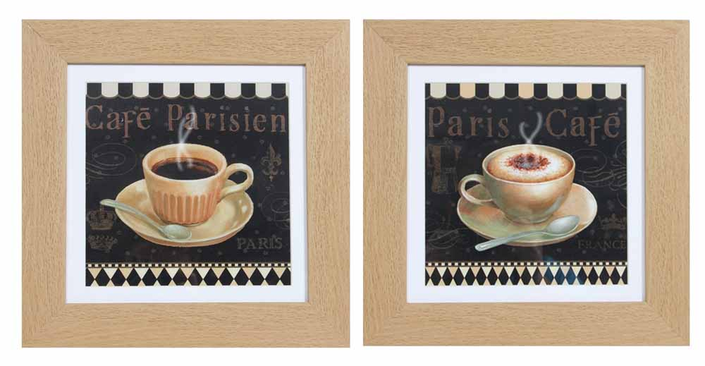 Framed Wall Art - Cafe Paris Set Of 2 Prints
