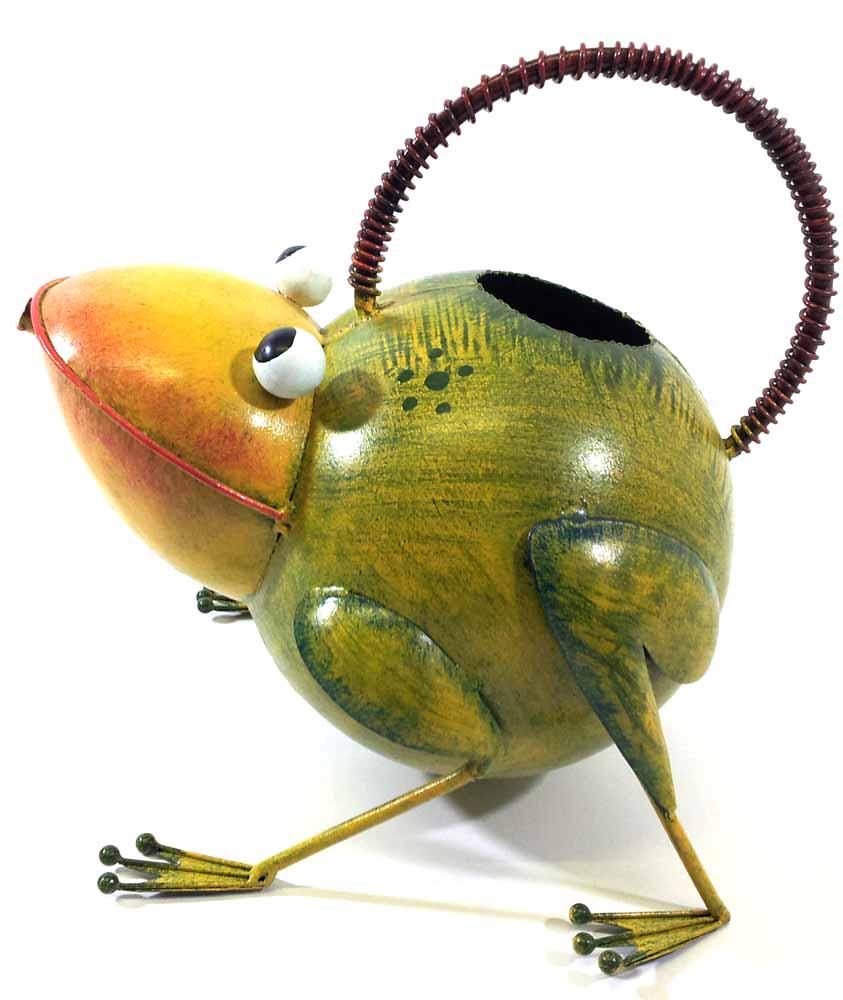 Garden Metal Frog Watering Can