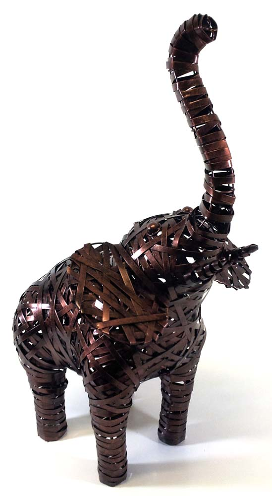 Large Metal Elephant Standing Statue