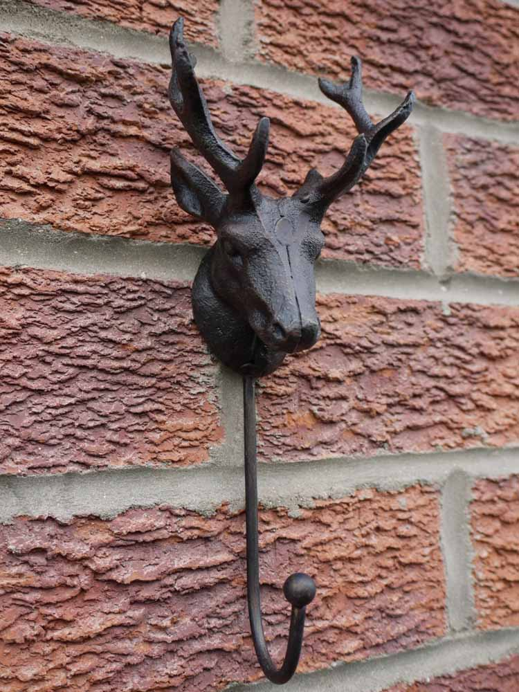 Metal Stag Single Wall Hook