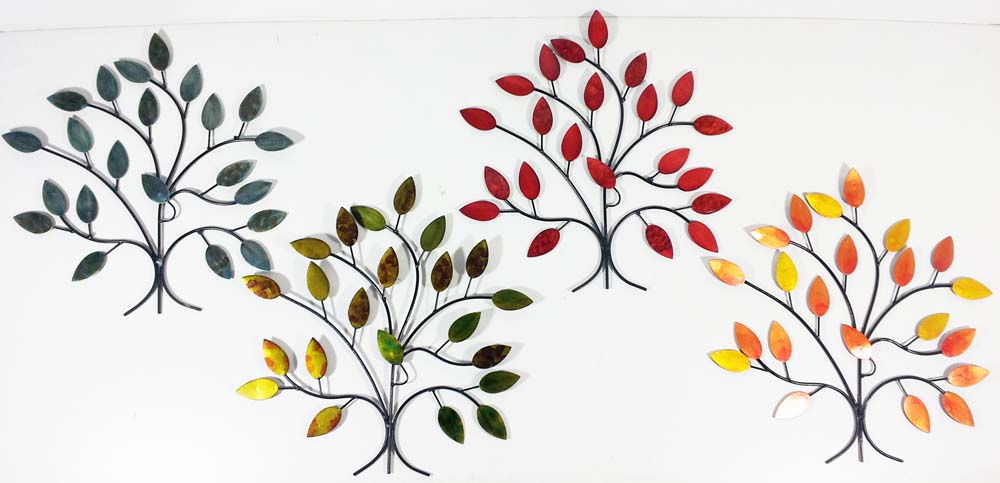 Metal wall art 4 seasons tree branch set - Decoration metal murale ...