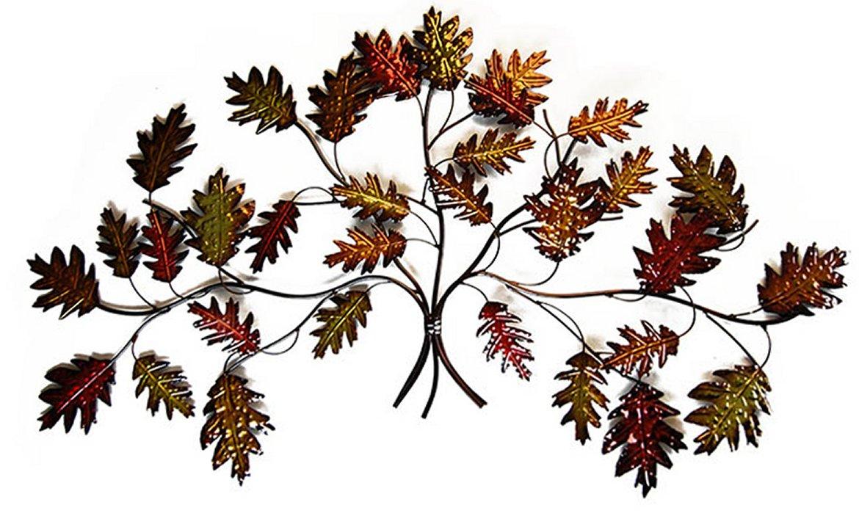 Wall Art Metal Leaves : Metal wall art autumn leaf branch