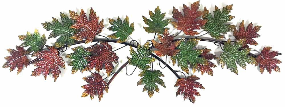 Metal Wall Art - Autumn Leaves Tree Branch