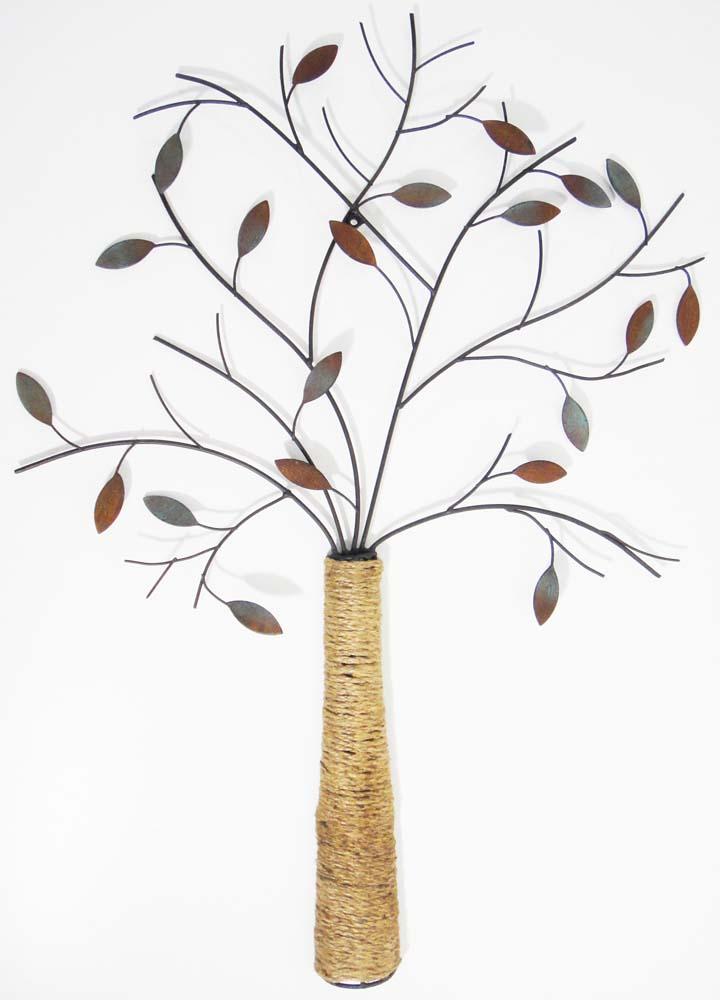 metal wall art autumn rope tree: tree scene metal wall art