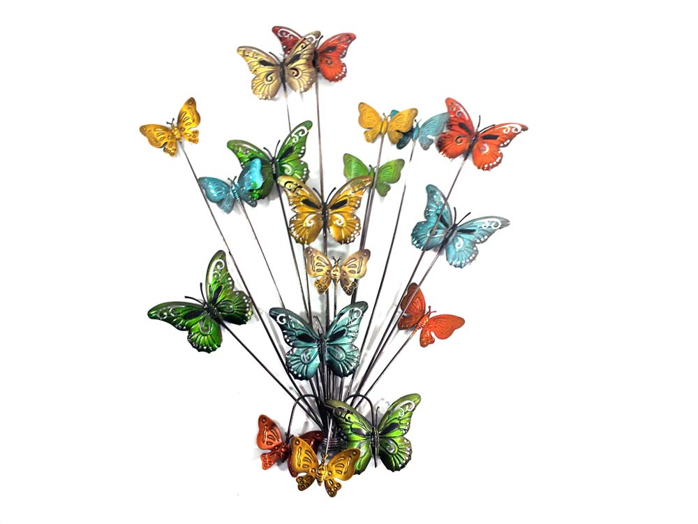 Metal Wall Art   Butterfly Explosion