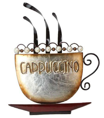 Metal Wall Art - Cappuccino Coffee Cup