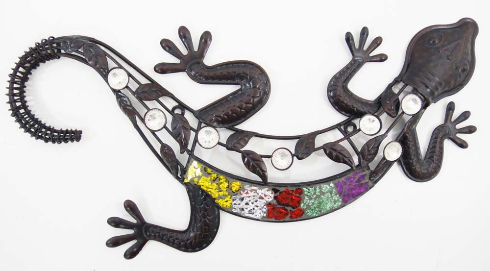 Metal Wall Art - Colour Gem Gecko