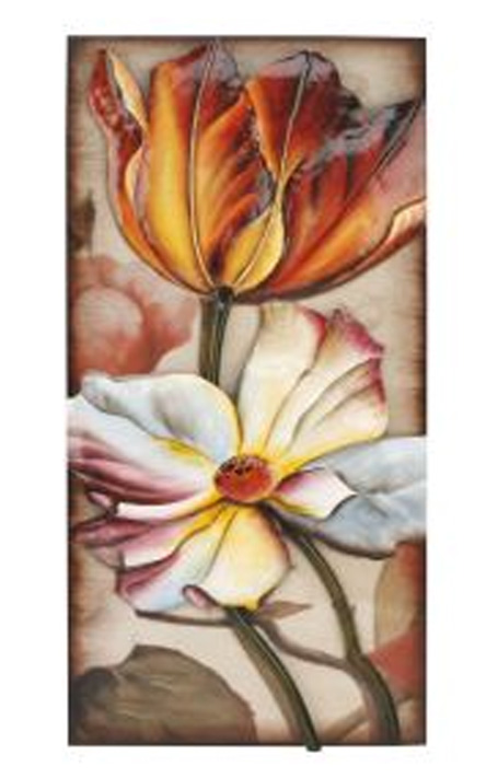 Metal Wall Art - Colourful Tulip Plaque