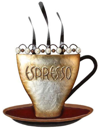 Metal Wall Art - Espresso Coffee Cup