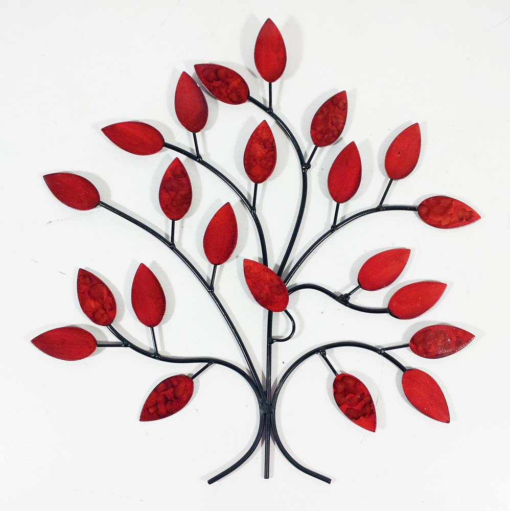 Metal Wall Art   Fire Summer Tree Branch