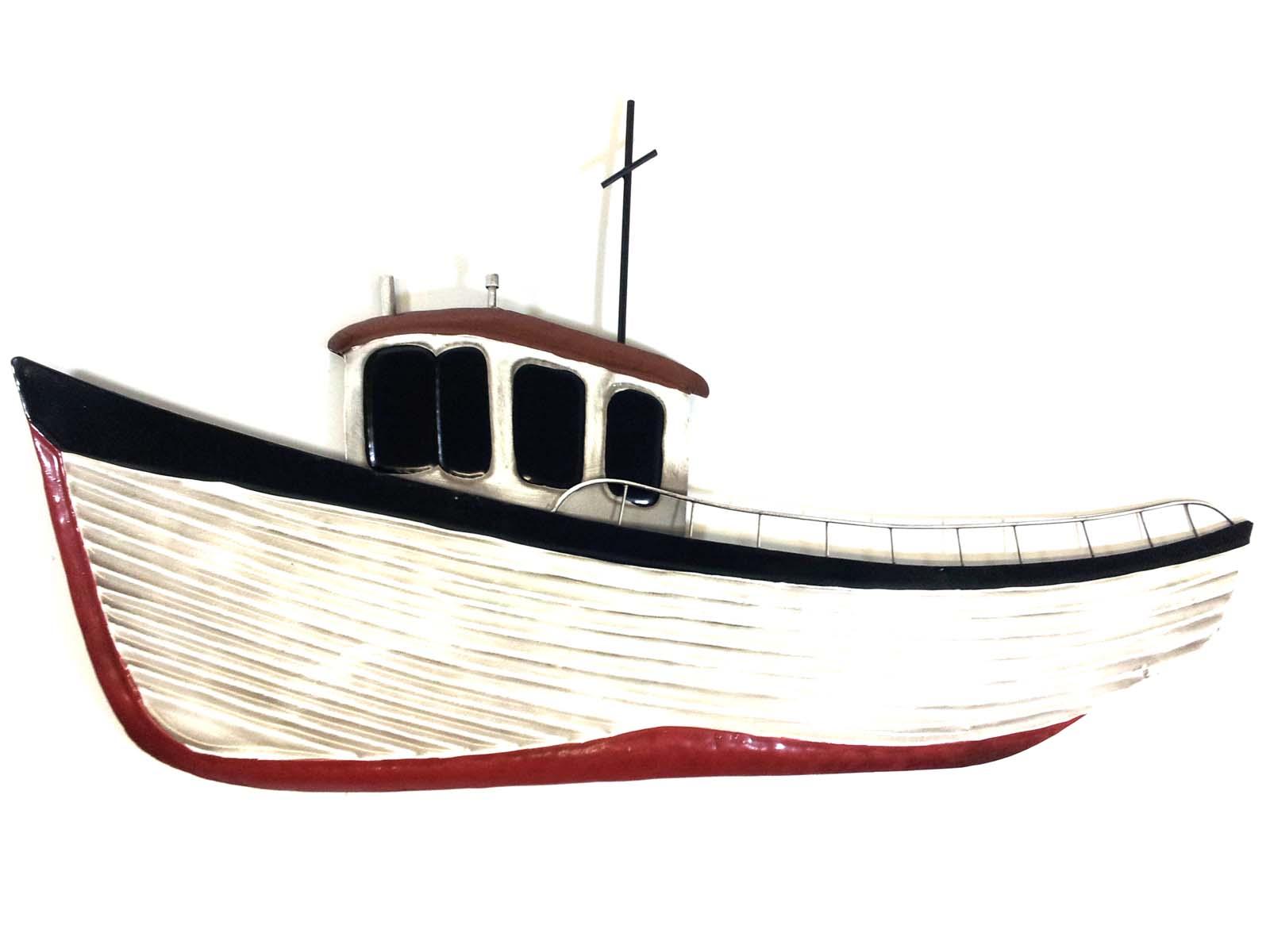 Metal Wall Art Fishing Boat