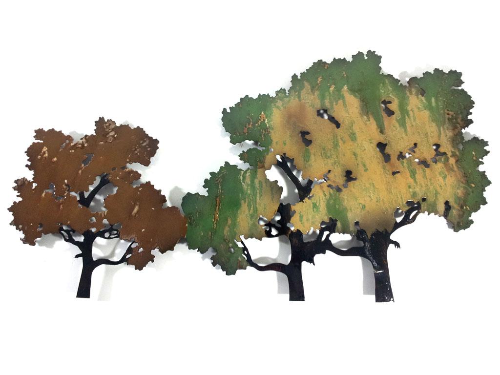 metal wall art forest tree scene zoom: tree scene metal wall art